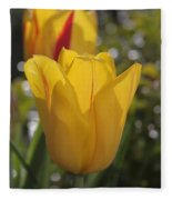 Yellow Tulip Fleece Blanket