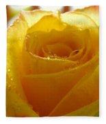 Yellow Valentine Roses - 4 Fleece Blanket