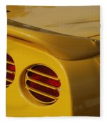 Yellow Vette Lights Fleece Blanket