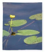 Yellow Water Lily Fleece Blanket