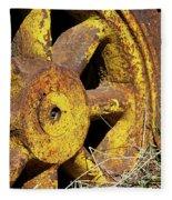 Yellow Wheel Fleece Blanket