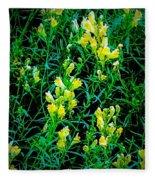 Yellow Wild Flowers In Late Summer Fleece Blanket