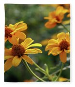 Yellow Wildflowers 3680 H_2 Fleece Blanket