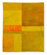 Yellow With Orange Fleece Blanket