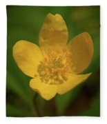 Yellow Wood Anemone 2 Fleece Blanket