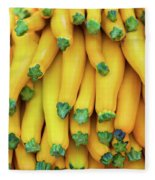 Yellow Zucchini Fleece Blanket