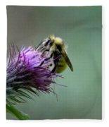 Yellowhead Bumblebee Two Fleece Blanket