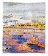 Yellowstone Abstract II Fleece Blanket