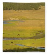 Yellowstone Bison 2 Fleece Blanket