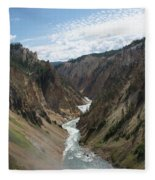 Yellowstone Grand Canyon Fleece Blanket
