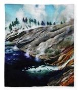Yellowstone Hot Springs Fleece Blanket