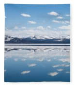 Yellowstone Lake Reflection Fleece Blanket