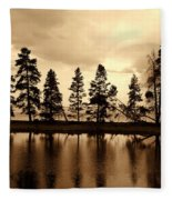 Yellowstone Lake Fleece Blanket