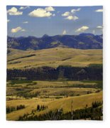 Yellowstone Landscape 2 Fleece Blanket