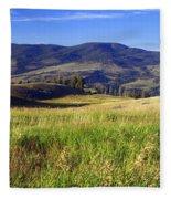 Yellowstone Landscape 3 Fleece Blanket