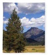 Yellowstone Landscape Fleece Blanket