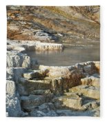 Yellowstone Mineral Features 3 Fleece Blanket