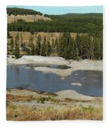 Yellowstone Mineral Ponds Fleece Blanket