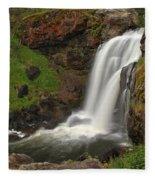 Yellowstone Moose Falls Fleece Blanket