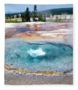 Yellowstone Park Firehole Spring In August 02 Fleece Blanket