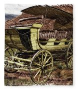 Yellowstone Park Stage Coach With Horses Pa 01 Fleece Blanket