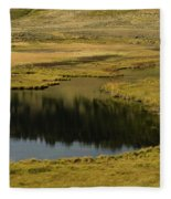 Yellowstone River Pond Fleece Blanket