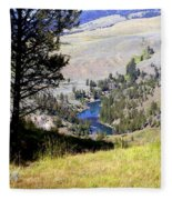 Yellowstone River Vista Fleece Blanket