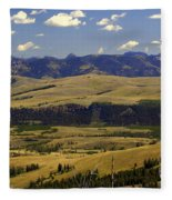 Yellowstone Vista Fleece Blanket