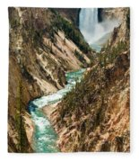 Yellowstone Waterfalls Fleece Blanket