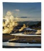 Yellowstone's Midway Geyser Basin  Fleece Blanket