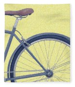 Yelow Bike Fleece Blanket