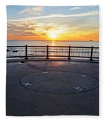Yes, The Sun Rises To The East Red Rock Park Lynn Shore Drive Fleece Blanket