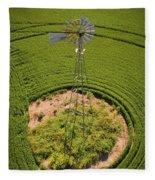 Yesterday's Windmill II Fleece Blanket