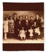 Yesteryears-grandfather Philip And Our Family Fleece Blanket