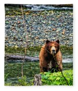 Yikes, It's A Grizzly Fleece Blanket