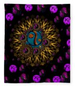 Yin And Yang Collage Fleece Blanket