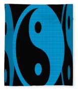 Yin Yang Blue Mosaic Fleece Blanket