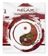 Yin Yang Photo Can Fleece Blanket
