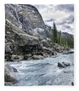 Yoho River At Takakkaw Falls Fleece Blanket