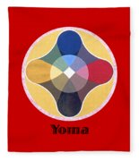 Yoma Text Fleece Blanket