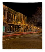 York South Carolina Downtown During Christmas Fleece Blanket