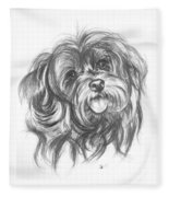 Yorkiepoo Fleece Blanket