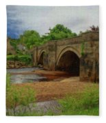 Yorkshire Bridge - P4a16015 Fleece Blanket