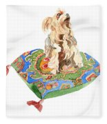 Yorkshire Terrier Fleece Blanket