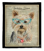 Yorkshire Terrier-jp3856 Fleece Blanket