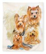 Yorkshire Terrier W/ghost Fleece Blanket
