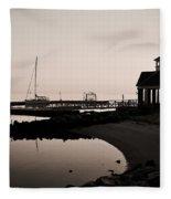 Yorktown Marina Morning Fleece Blanket