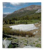 Yosemite At The Gate Tioga Pass Fleece Blanket