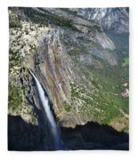 Yosemite Falls And Valley From Eagle Tower Detail - Yosemite Fleece Blanket