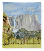 Yosemite Falls Fleece Blanket